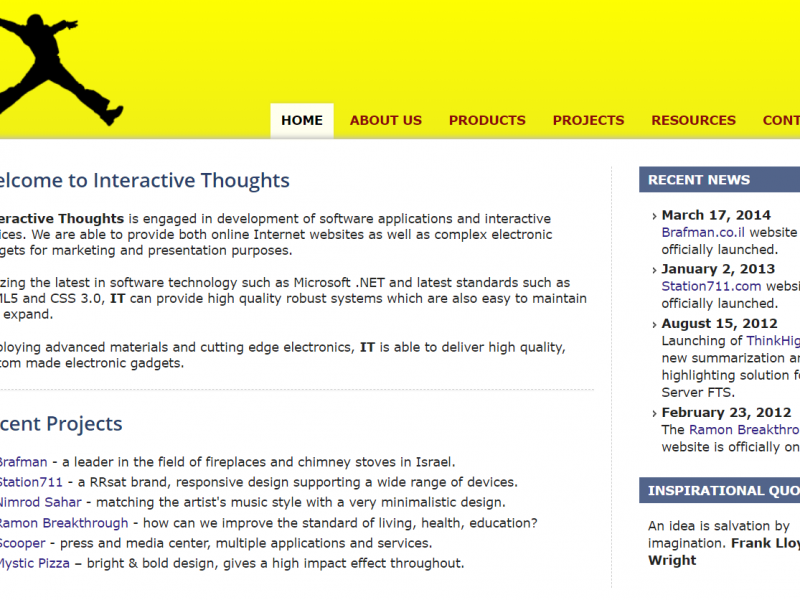 Interactive-Thoughts-website